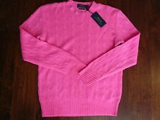 NWT $398 POLO RALPH LAUREN 100% CASHMERE  SWEATER SZ M