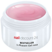 UV-Gel 1-Phasen-Gel rosa 5ml 3-in-1 Allround Versiegler Aufbau Grundierung Haft
