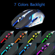 Wireless Gaming Mouse Rechargeable X7 Silent LED Backlit USB Optical Ergonomic