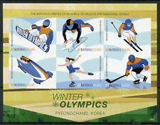 Marshall Isl 2018 MNH Winter Olympics PyeongChang 6v IMPF M/S Ice Hockey Stamps