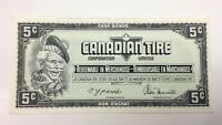1974 Canadian Tire 5 Five Cents CTC-S4-B-AM Uncirculated Money Banknote E126