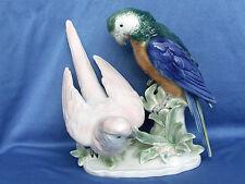 Tolles Papageienpaaar Figur,Wagner & Apel Porzellan Handarbeit Topzustand, Neu