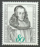 Germany 1985 MNH Mi 1235 Sc 1433 Philipp Jakob Spener.German Lutheran theologian