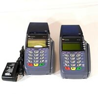 2 VeriFone Omni 5100 Credit Card Terminal Reader with 1 AC Adapter Works