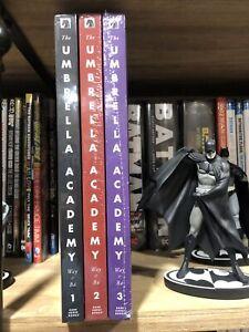 Umbrella Academy All 3 Hardcovers Library Deluxe Apocalypse Suite Dallas Netflix