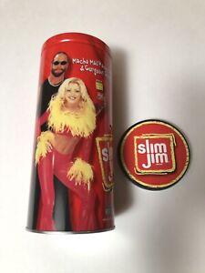 VINTAGE MACHO MAN RANDY SAVAGE SLIM JIM TIN CAN WRESTLING WWE WWF WCW RARE NEW