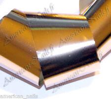 Rouleau Nail Art Foils ongles Foil Or Doré light métal 150 cm