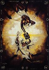 """African American Black Art Print """"WHAT GOD HAS JOINED"""" by Edwin Lester"""