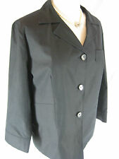 Gorgeous Sz 16 Ashley Fogel Black Jacket Designer
