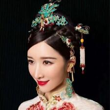 Retro Chinese Style Bride Wedding Hair Ornaments Tassel Headdress+Earrings Set