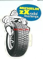 Autocollant sticker Michelin ZX radial bleu pneu tyre