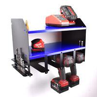 Draper Drill Driver Battery Tool Wall Rack Shelving Storage Workshop Organiser