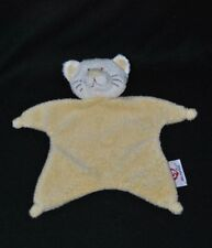 Peluche doudou chat plat TY 2004 jaune blanc TTBE