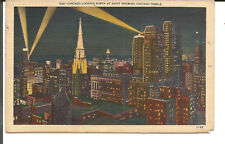 CHICAGO LOOKING NORTH AT NIGHT SHOWING CHICAGO TEMPLE-from pc collector