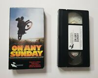 On Any Sunday VHS Rare McQUEEN Motorcycle Monterey Video Bruce Brown HTF