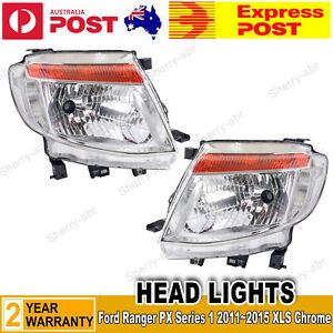 For Ford Ranger PX Series1 2011~2015 XLT Chrome A Pair of Head Light LH+RH Lamp