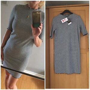 Topshop Black And White Dress Size 12 petite New RRP £22
