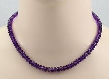 Amethyst-Kette  - facettierte Amethyst Halskette in 44 cm Länge