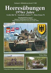 Tankograd 5089: Heeresübungen 1970er Jahre Manöver/Bilder/Fotos/Panzer/LKW/BW