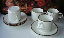 Coffe Cup/Saucer Duos x 4 Unbranded Vintage Australian Retro Modern