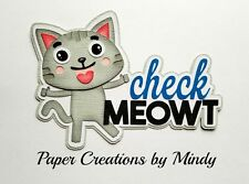 Craftecafe Mindy cat meow pet kitty kitten premade paper piece scrapbook Title
