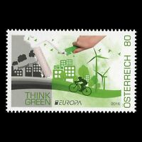 "Austria 2016 - EUROPA Stamp ""Think Green"" - MNH"