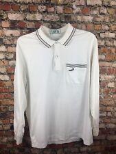 New listing Vintage 80s Crocodile Original White Cotton Polo Pocket Shirt Mens Small Retro @