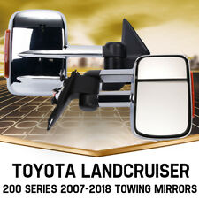 Extendable Towing Mirrors Fit For Toyota Landcruiser 200 Series 2007-2018 Chrome
