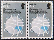 Australian Decimal Stamps:1981 C/wealth Heads Govt Meeting Melbourne-2x60c MNH