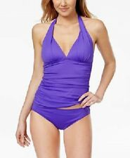 NEW Ralph Lauren Halter Tankini Swim Top size 10 Purple