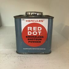 Vintage Hercules Red Dot Shotgun Gun Powder Tin Advertising Exc Condition