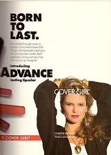 1990 Cover Girl Cosmetics Christie Brinkley Vintage Print Advertisement Ad 90s