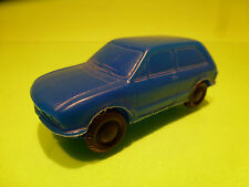 VINTAGE BLOWN PLASTIC 3-DOORS CAR - BLUE 1:43 - VINYL NO TOMTE