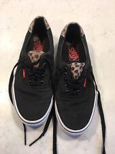 Vans Leopard Print & Black Size UK 5.5 en muy buena condición