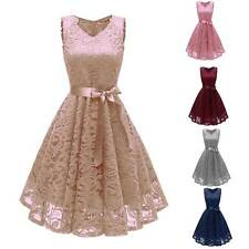 Pretty Lace Up Dress Cocktail Party Night Ball Gown Evening Wedding Prom Bowknot