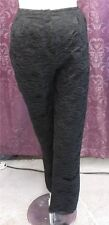 90s does 50-60s style black lace pants (capris on tall lady) w/satin slvless top