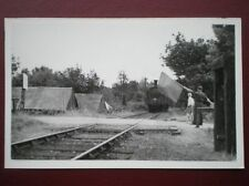 POSTCARD RP LOCOMOTIVE BEING FLAGGED DOWN