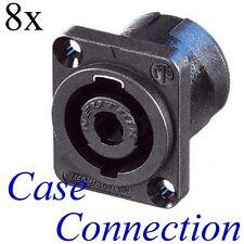 8x NEUTRIK NL4MP # Speakon Einbaubuchse - 4polig # 4 pole speaker connector