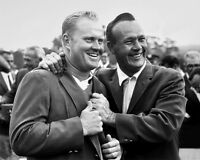 1965 Masters at Augusta JACK NICKLAUS & ARNOLD PALMER Glossy 8x10 Golf Photo