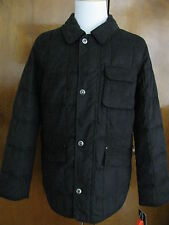 Nautica Men's Black Faux Suede Quilt Jacket SZ Medium Retail Value $298 NWT