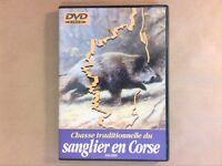 RARE DVD CHASSE / CHASSE TRADITIONNELLE DU SANGLIER EN CORSE / TRES BON ETAT