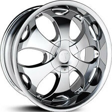 (4) FOUR WHEELS 26'' VELOCITY 780 26X10+25 6X135+6X139.7 CHROME CHEVY SIERRA