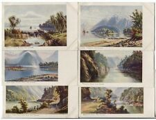 NEW ZEALAND • c1910 • 6 'artist' cards featuring well-known views from around NZ