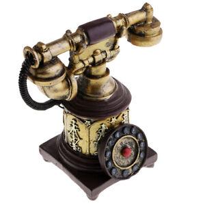 1920-1930s British Old Fashioned Rotary Dial Telephone Retro Landline Phones