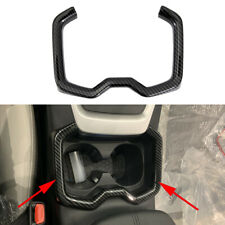 Carbon Fiber Car Inner Parts For 2019+ Toyota RAV4 Water Cup Holder Frame Cover