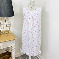 Vintage Floral Rose Nightie Night Dress Cottagecore Farmhouse fit Size 10 - 14