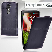 Leather Mobile Phone Flip Cases for LG G2