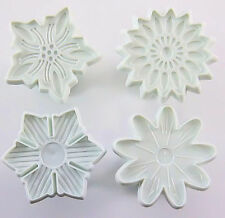 Flower Cookie Fondant Gum paste Cutter 4 pc Set - NEW