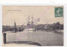 CPA 14000 CAEN Bassin du Commer bateaux Edt A.D ca1910