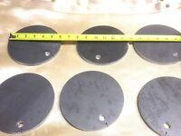 """6"""" round steel shooting targets.  Reactive steel shooting targets"""